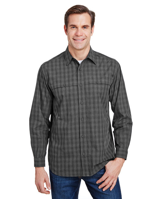 Dri Duck Yarn-Dyed Poplin Paseo Plaid Shirt - Charcoal