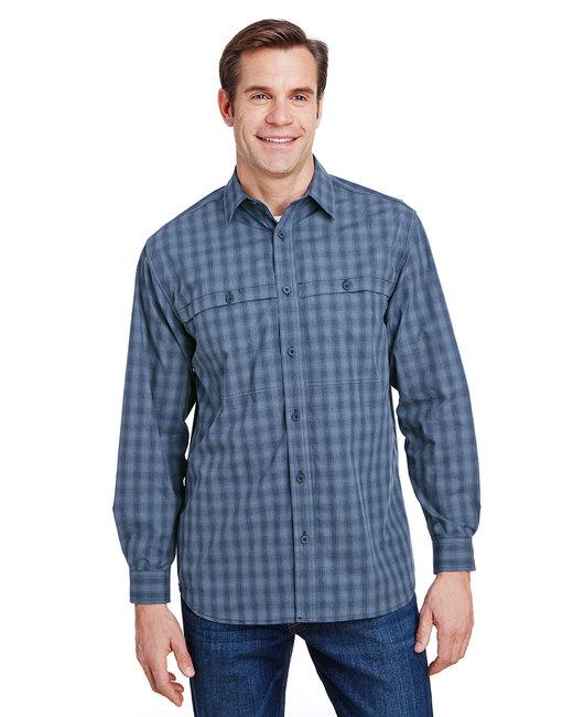 Dri Duck Yarn-Dyed Poplin Paseo Plaid Shirt - Deep Blue