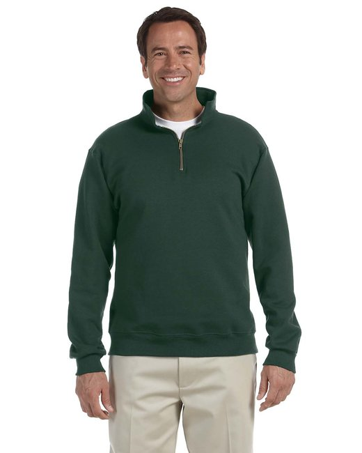 Jerzees Adult 9.5 oz. Super Sweats® NuBlend® Fleece Quarter-Zip Pullover - Forest Green