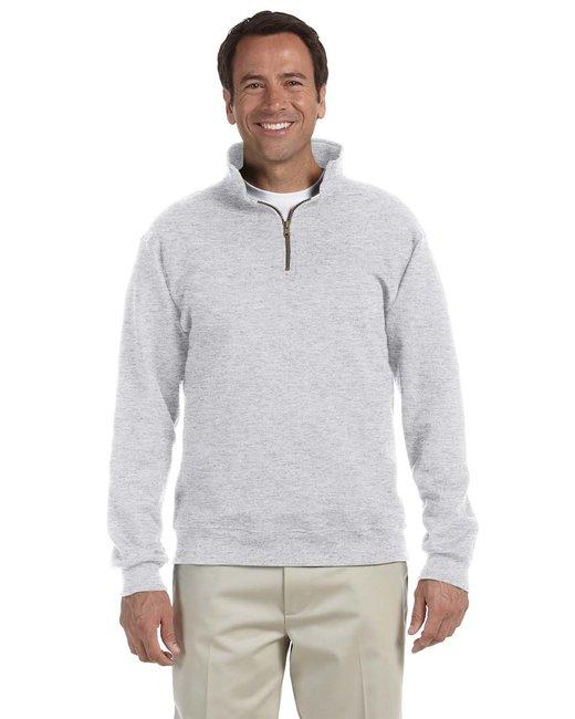 Jerzees Adult 9.5 oz. Super Sweats® NuBlend® Fleece Quarter-Zip Pullover - Ash