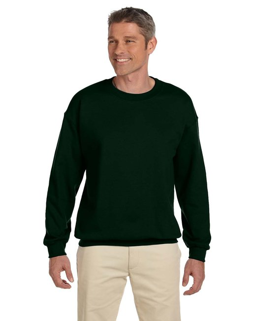 Jerzees Adult 9.5 oz. Super Sweats® NuBlend® Fleece Crew - Forest Green