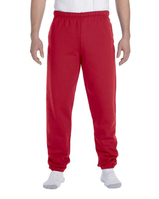 Jerzees Adult 9.5 oz. Super Sweats® NuBlend® Fleece Pocketed Sweatpants - True Red