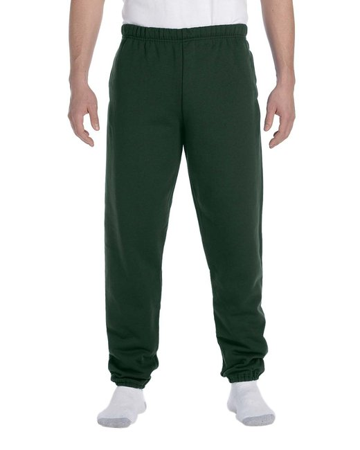 Jerzees Adult 9.5 oz. Super Sweats® NuBlend® Fleece Pocketed Sweatpants - Forest Green
