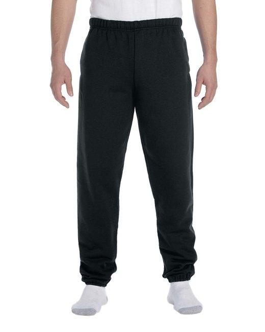 Jerzees Adult 9.5 oz. Super Sweats® NuBlend® Fleece Pocketed Sweatpants - Black