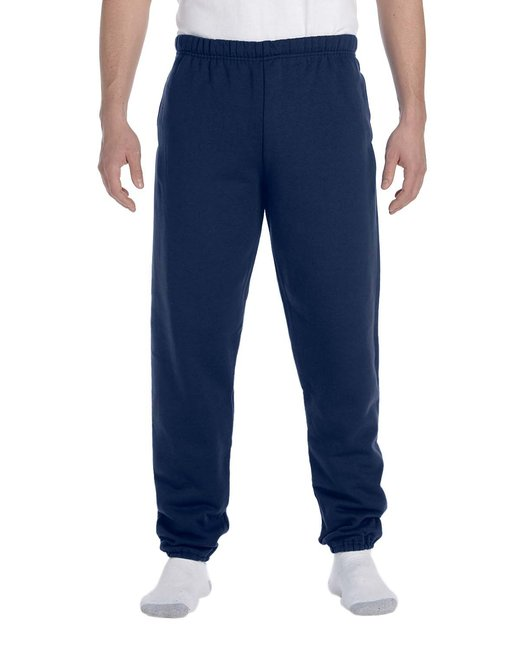 Jerzees Adult 9.5 oz. Super Sweats® NuBlend® Fleece Pocketed Sweatpants - J Navy