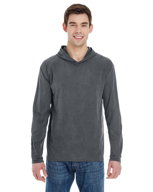 Comfort Colors Adult Heavyweight RS Long-Sleeve Hooded T-Shirt - Pepper