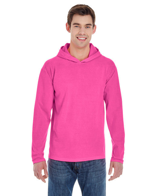 Comfort Colors Adult Heavyweight RS Long-Sleeve Hooded T-Shirt - Neon Pink