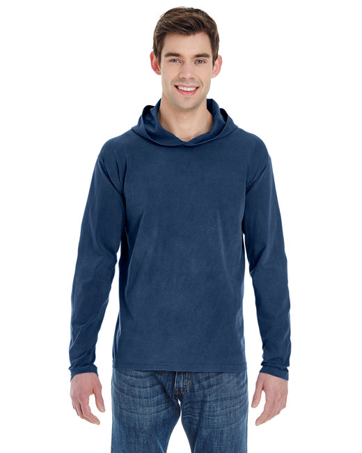 Comfort Colors Adult Heavyweight RS Long-Sleeve Hooded T-Shirt - True Navy