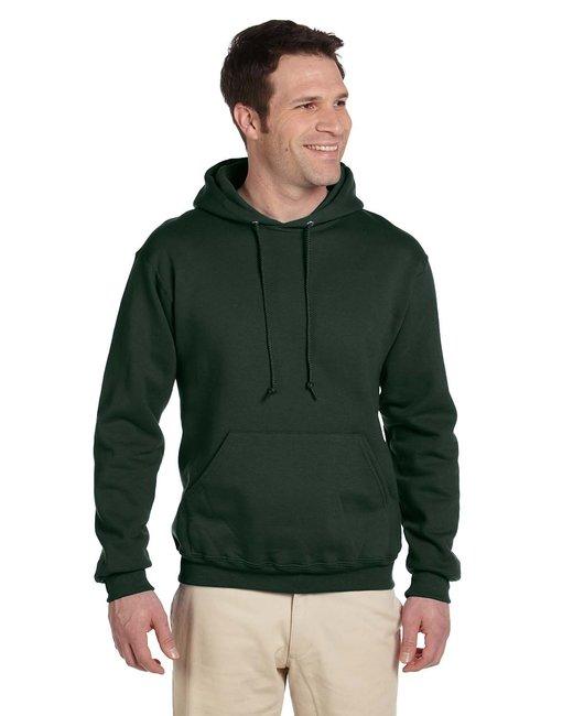 Jerzees Adult 9.5 oz., Super Sweats® NuBlend® Fleece Pullover Hood - Forest Green