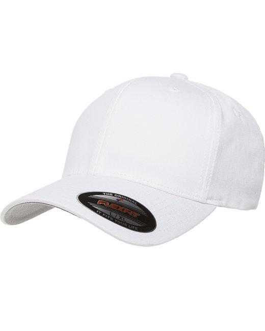 Flexfit Adult Value Cotton Twill Cap - White