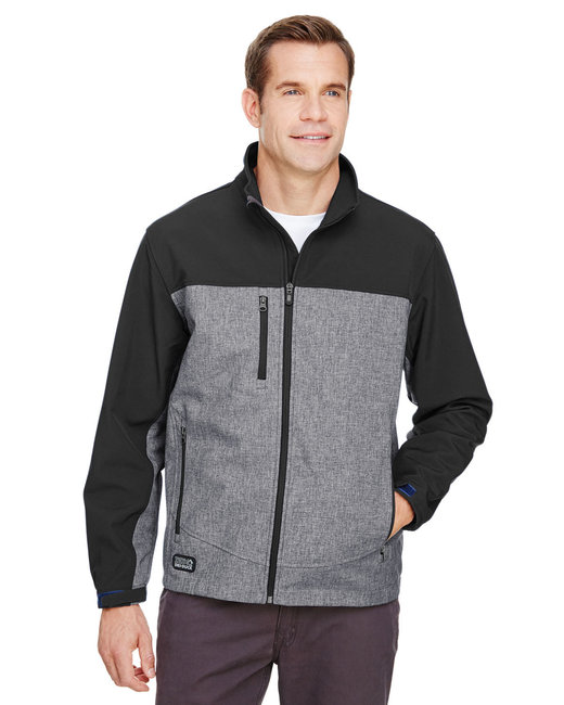 Dri Duck Men's Poly Spandex Motion Jacket - Black Heather