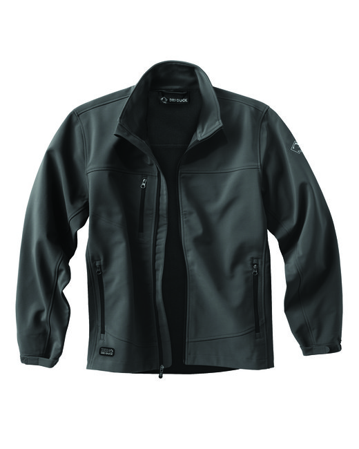 Dri Duck Men's 90% Polyester/10% Spandex Water Resistant Softshell Tall Motion Jacket - Charcoal