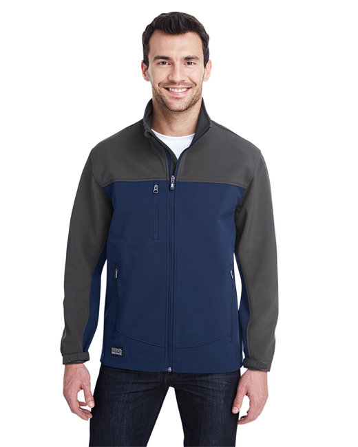 Dri Duck Men's 90% Polyester/10% Spandex Water Resistant Softshell Tall Motion Jacket - Deep Blue