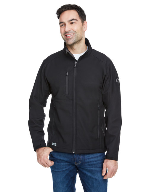 Dri Duck Men's 100% Polyester Softshell Waterproof Fabric Acceleration Jacket - Black
