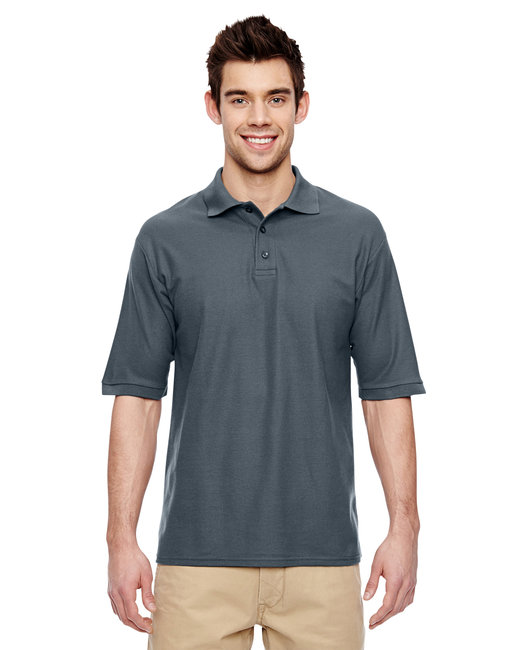 Jerzees Adult 5.3 oz. Easy Care™ Polo - Charcoal Grey