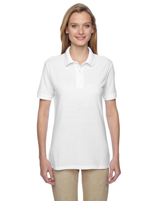 Jerzees Ladies' 5.3 oz. Easy Care™ Polo - White