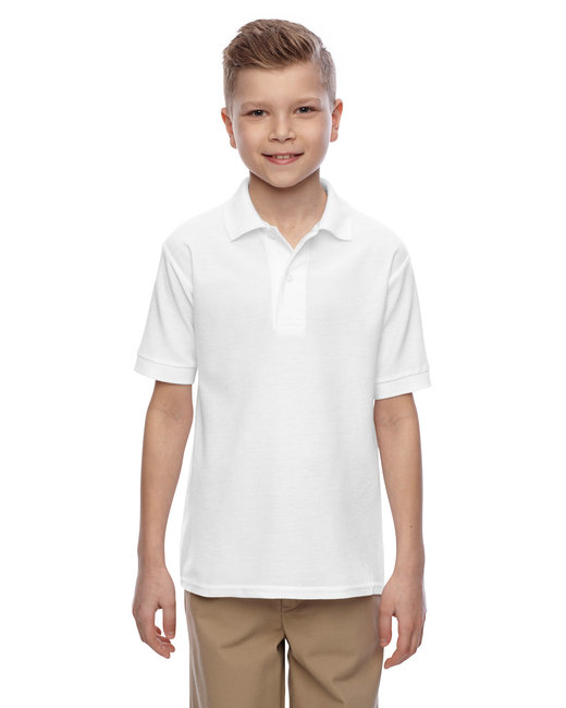 Jerzees Youth 5.3 oz. Easy Care™ Polo - White