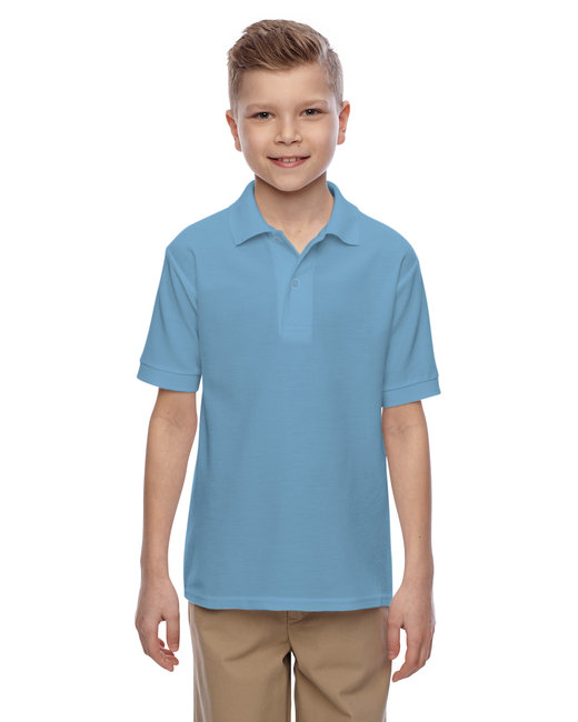 Jerzees Youth 5.3 oz. Easy Care™ Polo - Light Blue