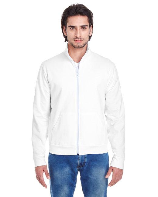 American Apparel Unisex California Fleece Zip Jogger - White