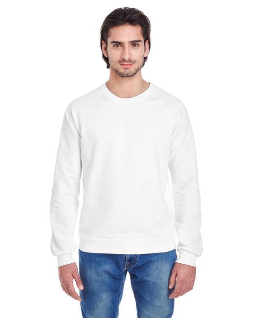 American Apparel Unisex California Fleece Raglan - White