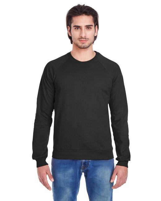 American Apparel Unisex California Fleece Raglan - Black