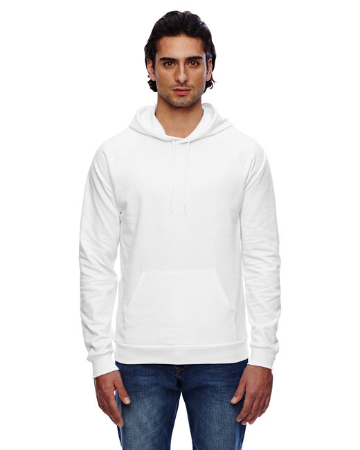American Apparel Unisex California Fleece Pullover Hoodie - White