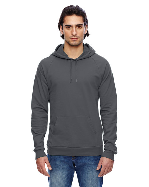 American Apparel Unisex California Fleece Pullover Hoodie - Asphalt