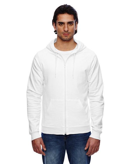 American Apparel Unisex California Fleece Zip Hoodie - White