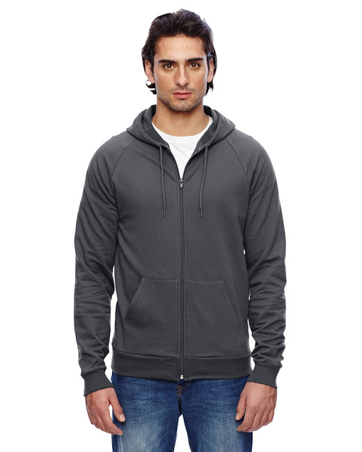 American Apparel Unisex California Fleece Zip Hoodie - Asphalt
