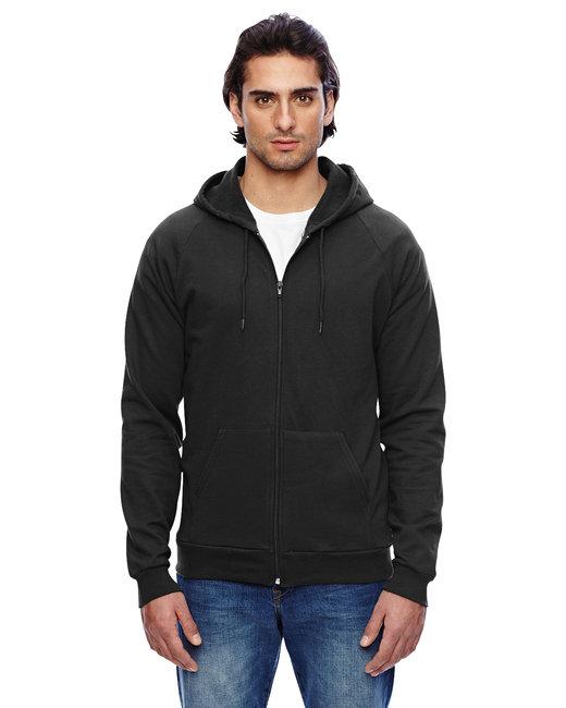 American Apparel Unisex California Fleece Zip Hoodie - Black