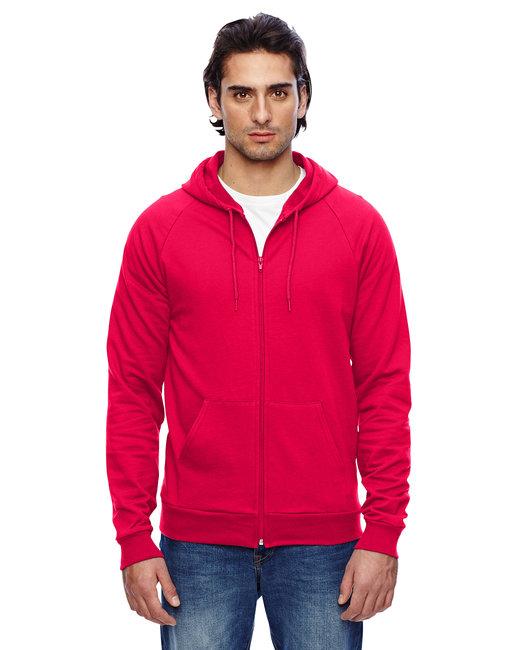 American Apparel Unisex California Fleece Zip Hoodie - Red