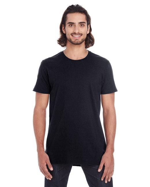 Anvil Adult Lightweight Long & Lean T-Shirt - Black