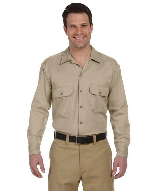 Dickies Men's 5.25 oz./yd² Long-Sleeve WorkShirt - Khaki