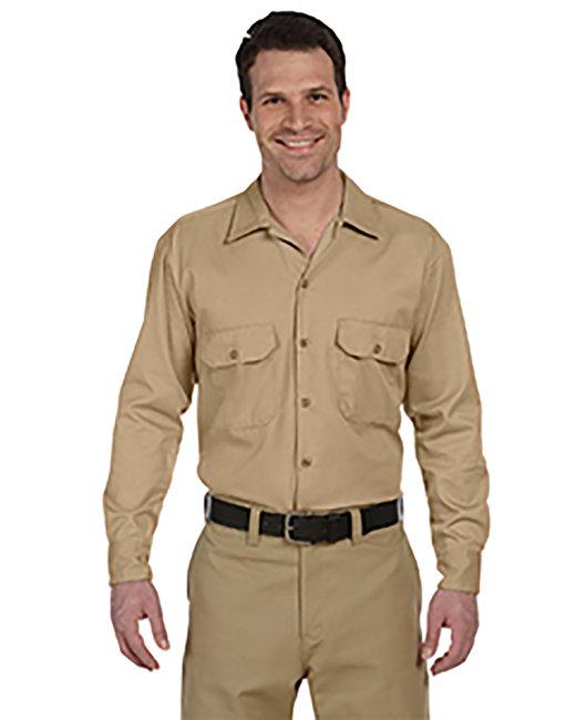 Dickies Men's 5.25 oz./yd² Long-Sleeve WorkShirt - Desert Sand