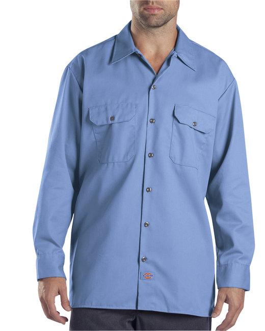 Dickies Men's 5.25 oz./yd² Long-Sleeve WorkShirt - Gulf Blue