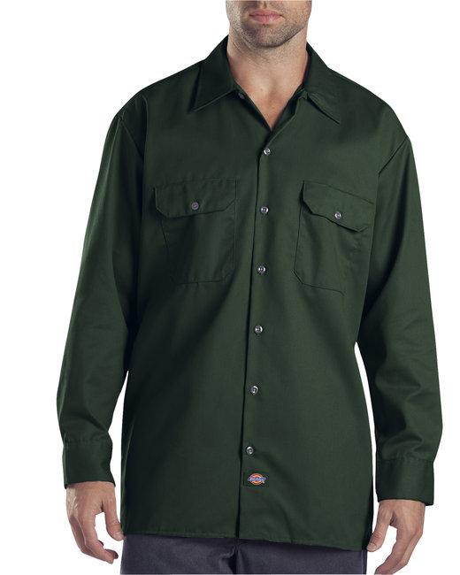 Dickies Men's 5.25 oz./yd² Long-Sleeve WorkShirt - Hunter Green