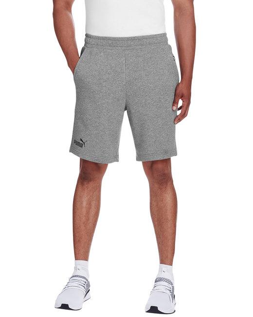 Puma Sport Adult Essential Sweat Bermuda Short - Md Gy Hth/ P Blk