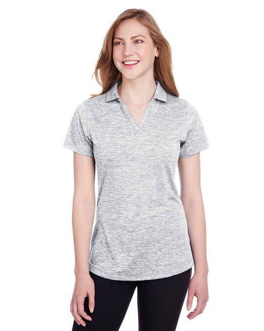 Puma Golf Ladies' Icon Heather Polo - Bright White
