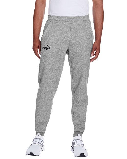 Puma Sport Adult Essential Logo Pant - Md Gy Hth/ P Blk