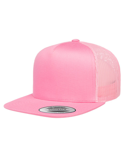 Yupoong Adult 5-Panel Classic Trucker Cap - Pink