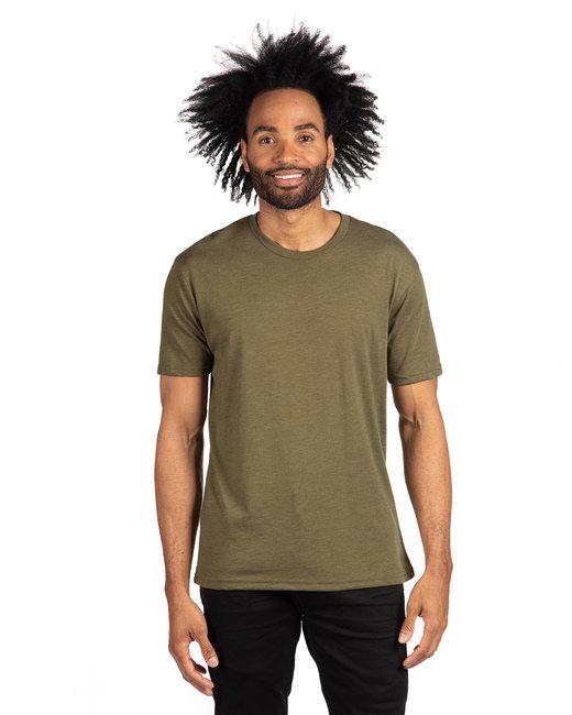 Next Level Men's Triblend Crew - Military Green
