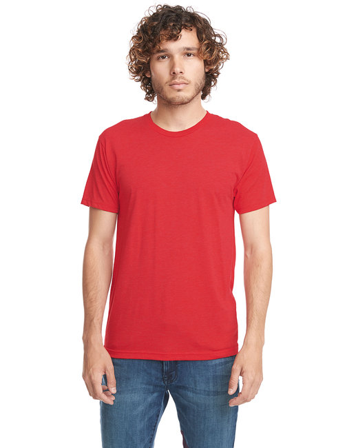Next Level Men's Triblend Crew - Vintage Red