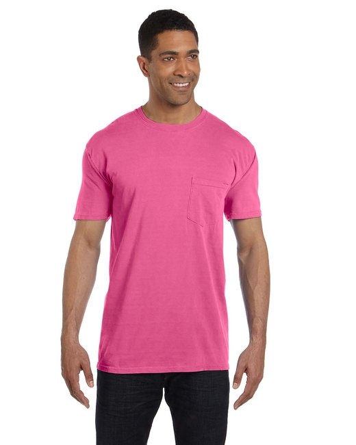 Comfort Colors Adult Heavyweight RS Pocket T-Shirt - Neon Pink