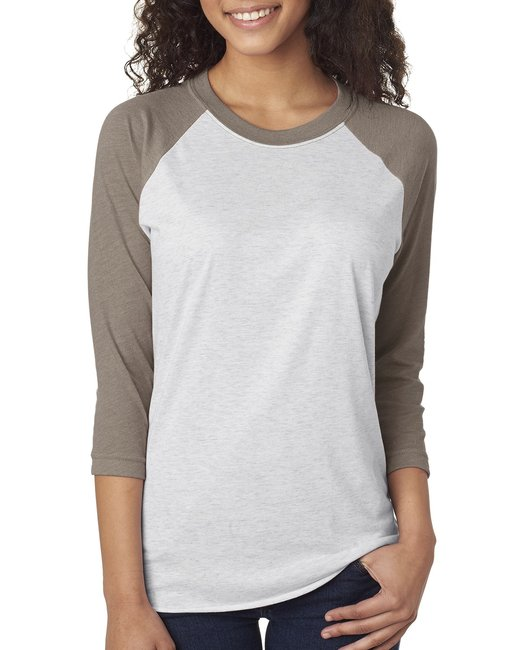 6051 Next Level Unisex Triblend 3/4-Sleeve Raglan