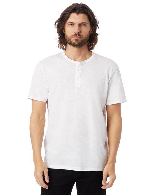 Alternative Adult Weathered Slub Henley T-Shirt - White