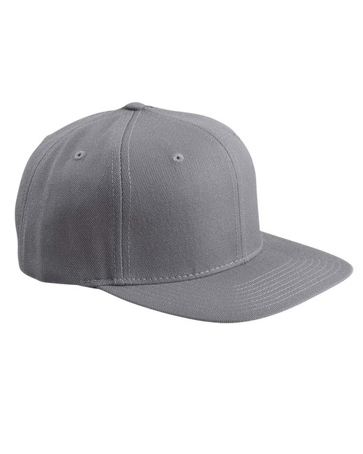 Yupoong Adult 6-Panel Structured Flat Visor Classic Snapback - Dark Grey