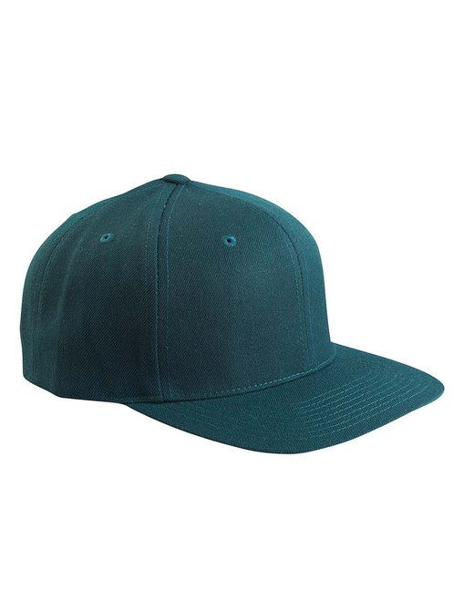 Yupoong Adult 6-Panel Structured Flat Visor Classic Snapback - Spruce