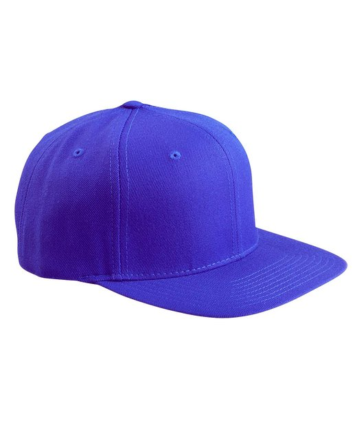 Yupoong Adult 6-Panel Structured Flat Visor Classic Snapback - Royal