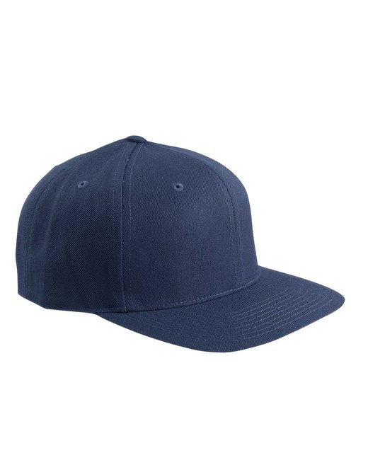 Yupoong Adult 6-Panel Structured Flat Visor Classic Snapback - Navy