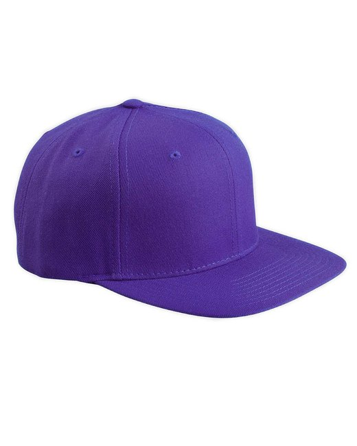 Yupoong Adult 6-Panel Structured Flat Visor Classic Snapback - Purple